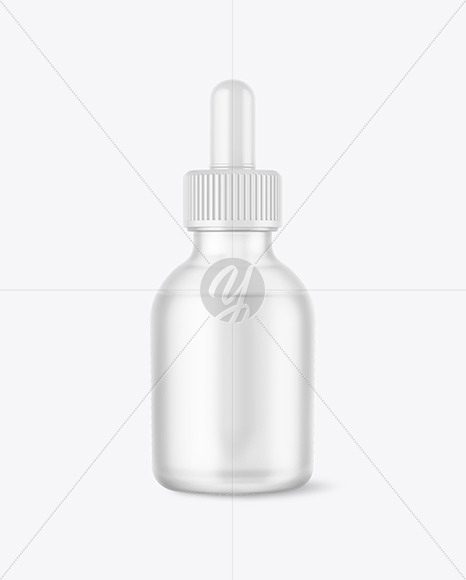Download 15ml Frosted Dark Amber Glass Dropper Bottle PSD - Free PSD Mockup Templates