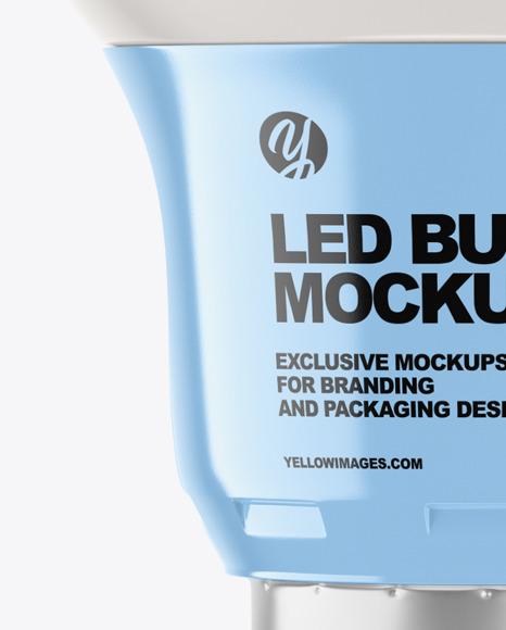 Glossy LED Light Bulb Mockup
