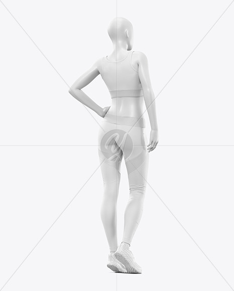 Women's Fitness Kit Mockup