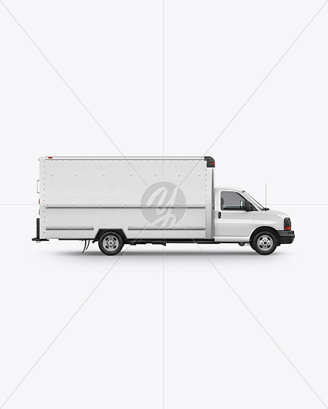 Box Truck Mockup - Side View - Yellowimages Mockups