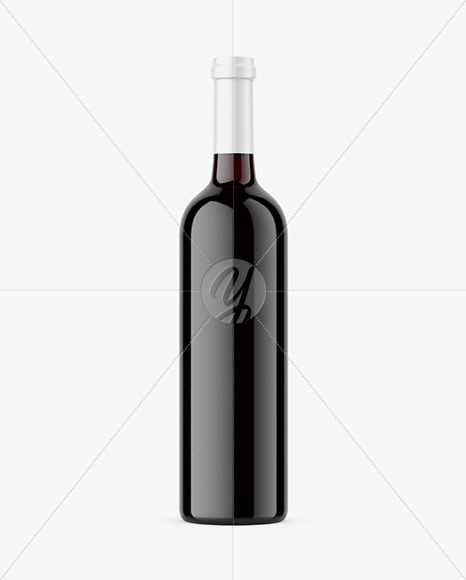 Download Clear Glass Red Wine Bottle Mockup In Bottle Mockups On Yellow Images Object Mockups PSD Mockup Templates