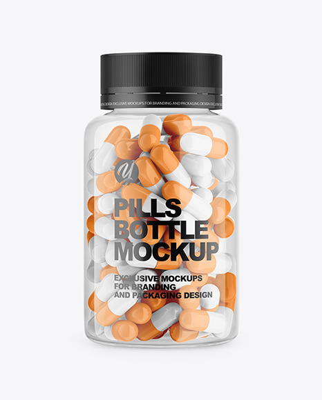 Download Clear Pills Bottle Mockup Free Psd Mockups Template Promockups Yellowimages Mockups