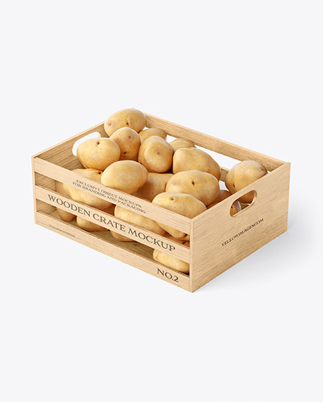 Crate with Potatoes