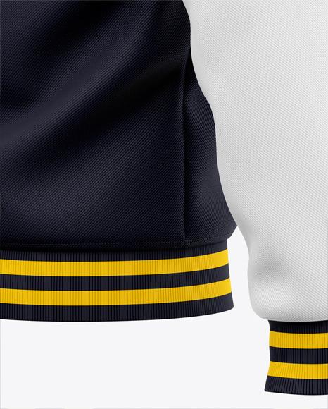 Download Mens Quarter Zip Sweatshirt Mockup Back Half Side View Of Zipped Pullover Yellowimages