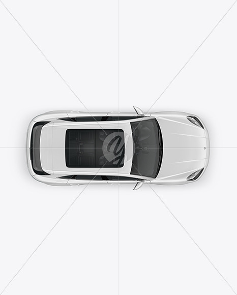 Luxury Crossover Mockup - Top View - Yellowimages Mockups
