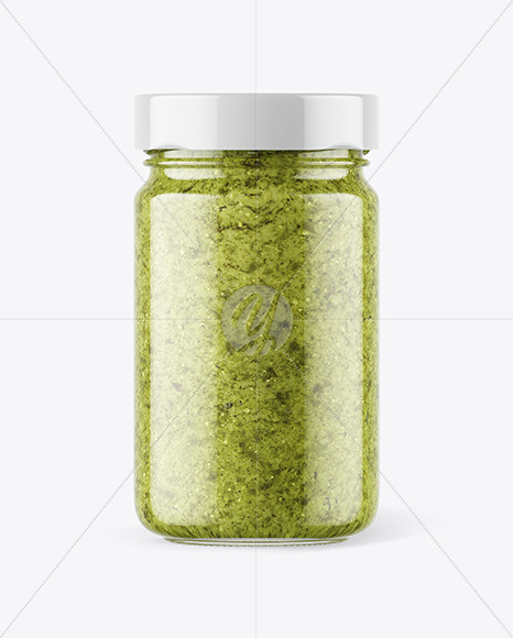 Free Download Clear Glass Jar With Horseradish Mockup High Angle Shot PSD - Free PSD Mockup Templates