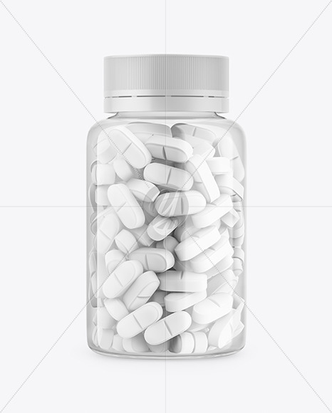 Download Clear Plastic Bottle With Pills Mockup In Bottle Mockups On Yellow Images Object Mockups PSD Mockup Templates