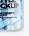 Clear Plastic Bottle With Pills Mockup
