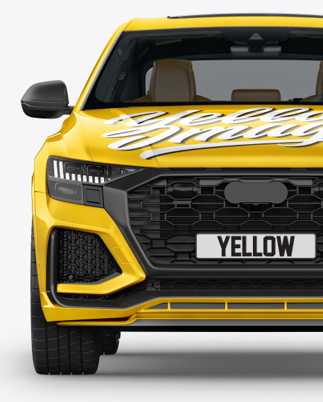 Coupe Crossover SUV Mockup - Front View