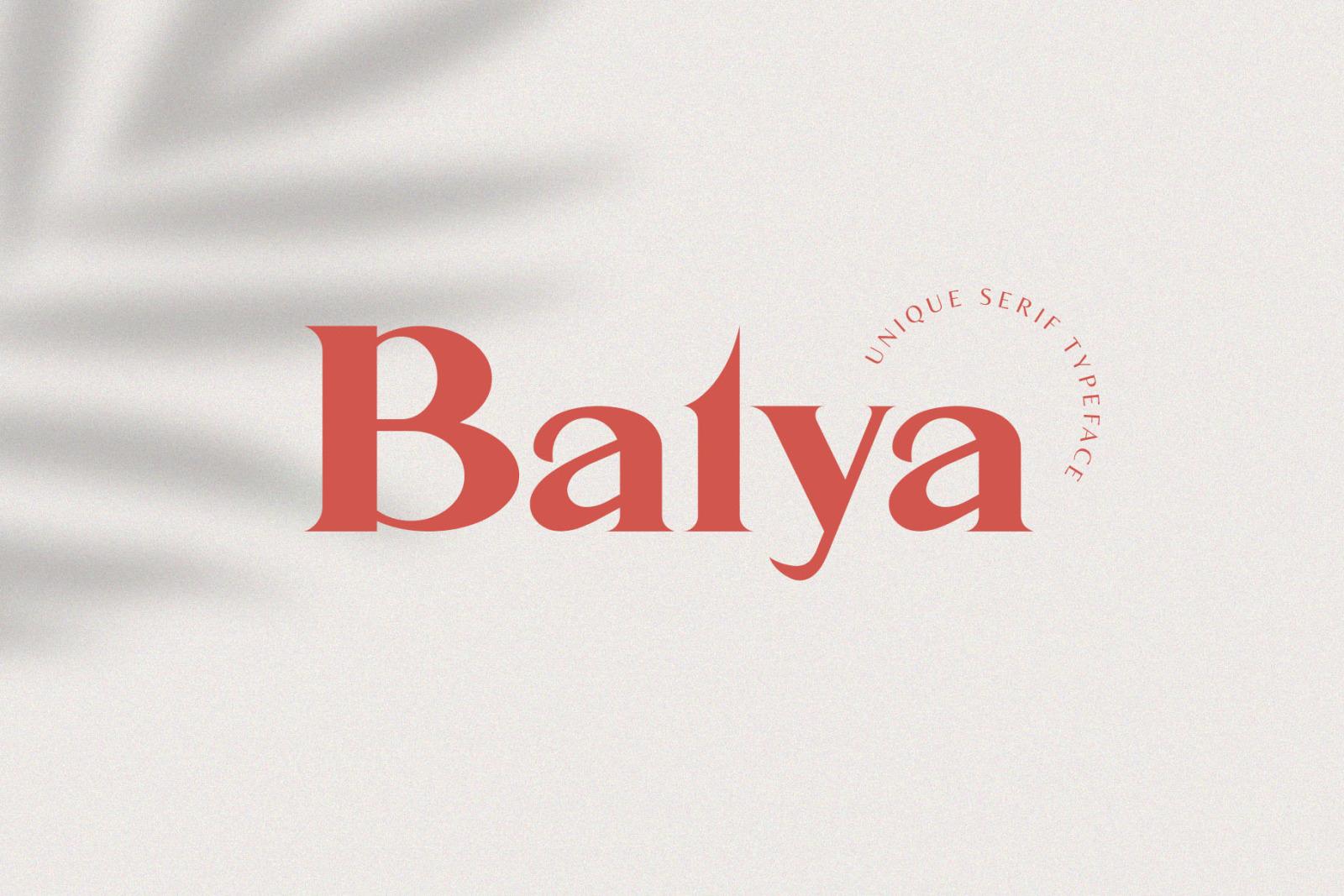 Balya - Serif Font