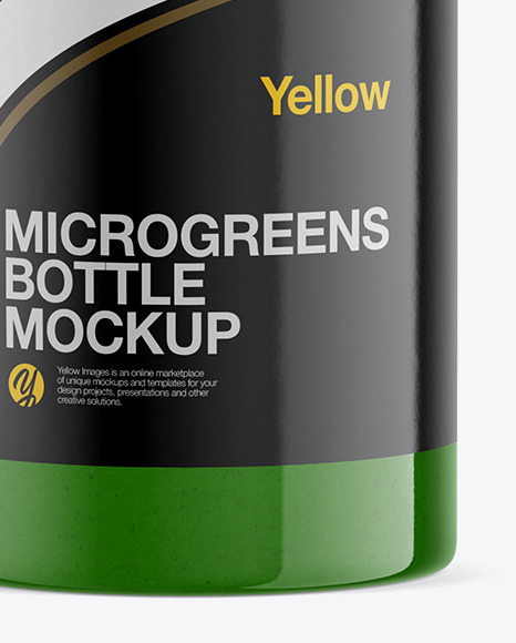 Juice Microgreen Bottle Mockup - Half Side View