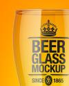 Empty Beer Glass Mockup