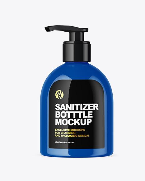 Download Glossy Sanitizer Bottle Mockup In Bottle Mockups On Yellow Images Object Mockups PSD Mockup Templates