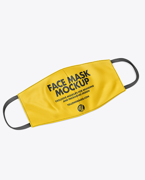 Download Face Mask Mockup In Apparel Mockups On Yellow Images Object Mockups PSD Mockup Templates