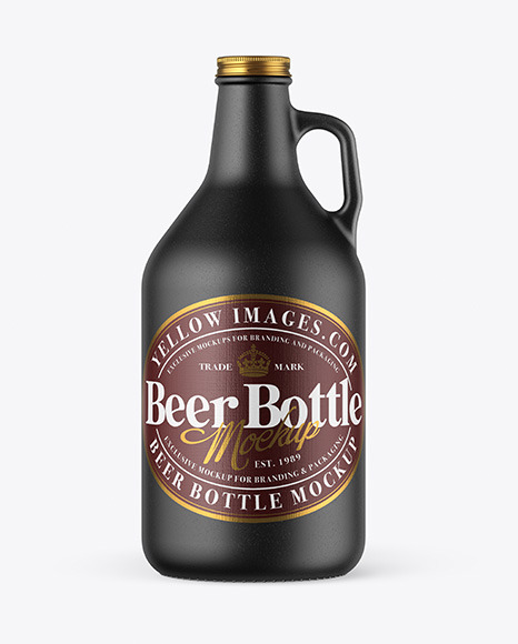 32 oz Ceramic Beer Bottle Mockup
