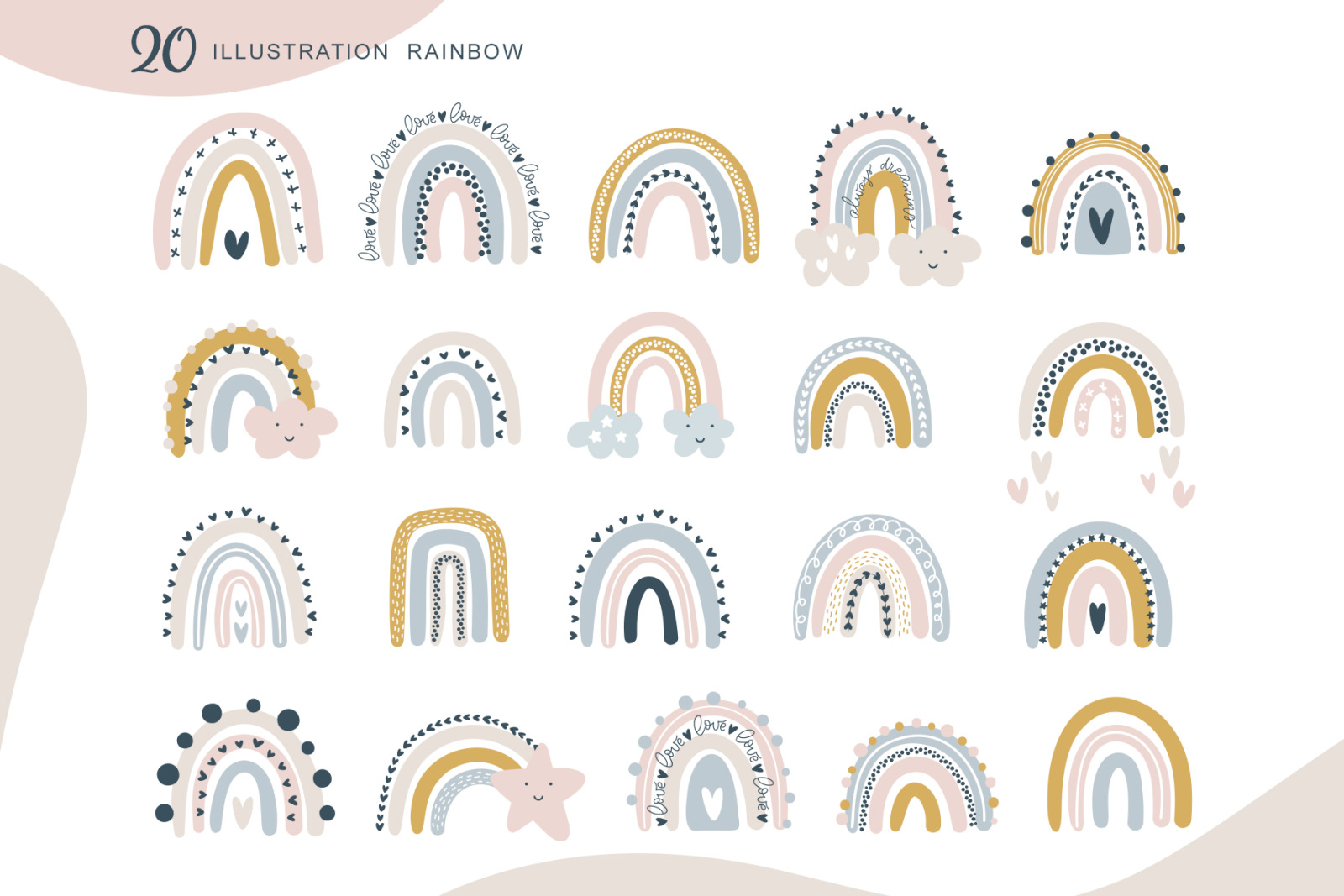 Rainbow scandinavian SVG