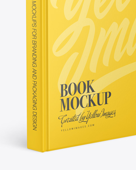 Download Hardcover Book W Matte Cover Mockup In Stationery Mockups On Yellow Images Object Mockups Yellowimages Mockups