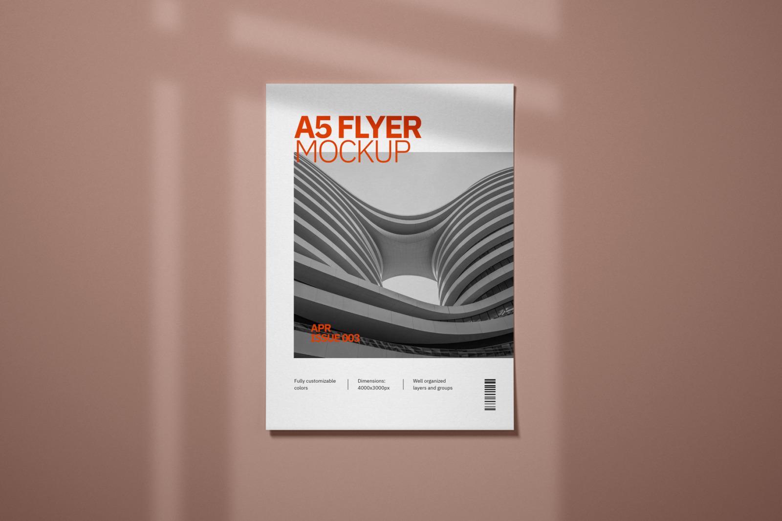 A5 Flyer Mockup Set