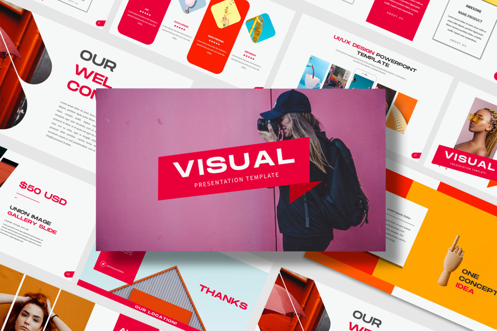 Visual - PowerPoint Template