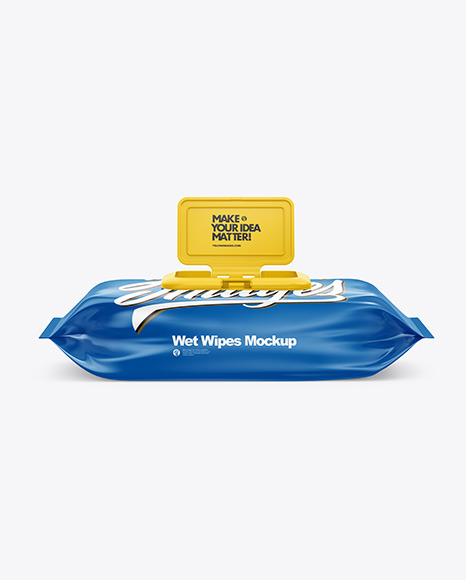 Wet Wipes Pack With Plastic Cap Mockup