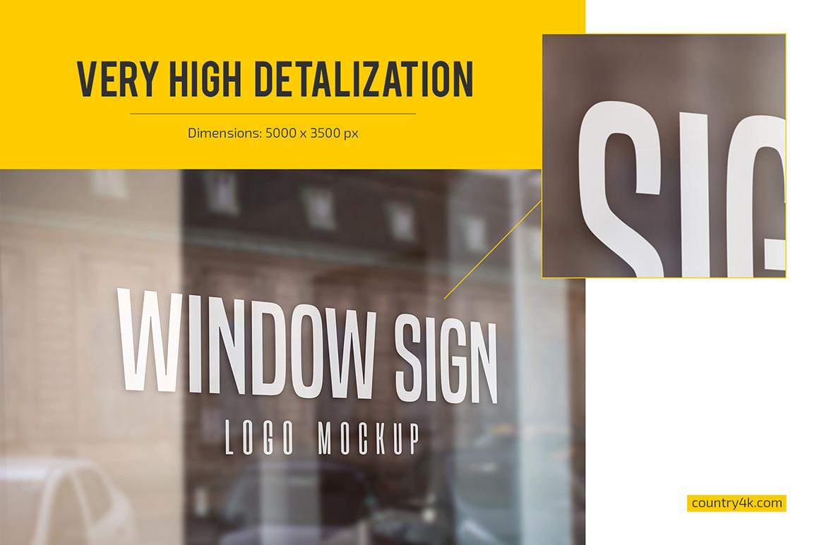 Window Sign Logo Mockup Set