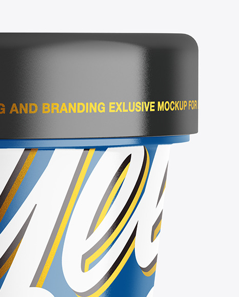 Glossy Cosmetic Cream Jar Mockup