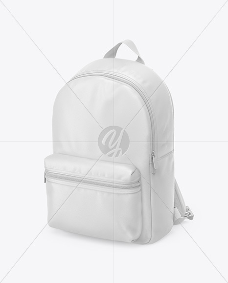 Leather Backpack Mockup - Half Side View