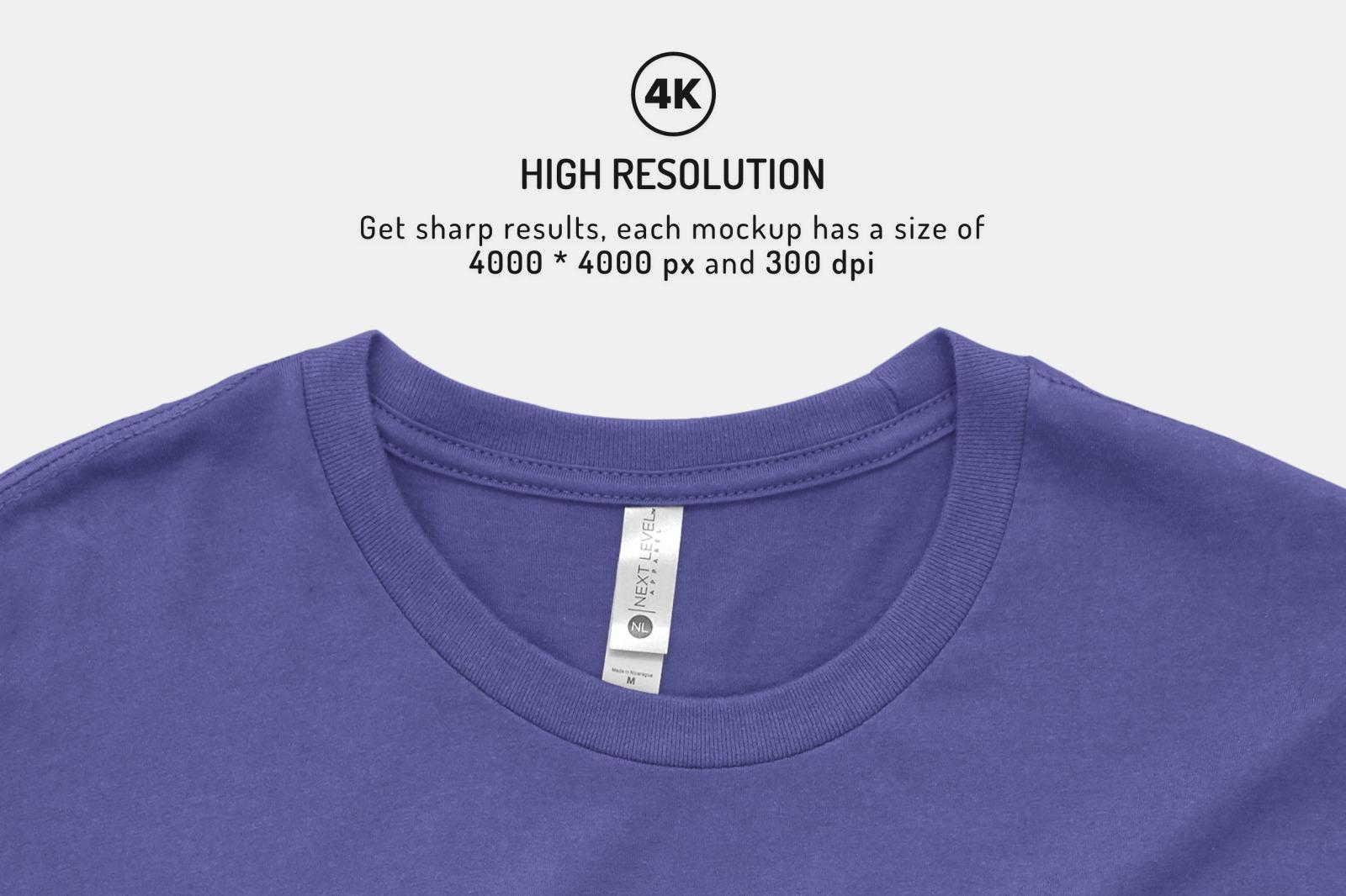 Mens Short Sleeve T-shirt Mockups