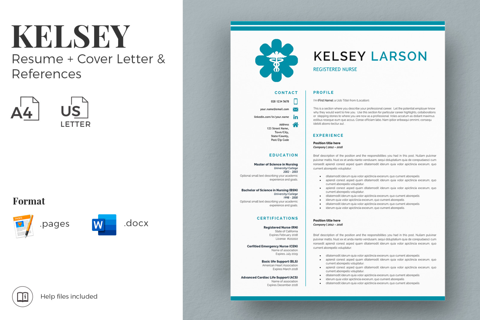 Nurse Resume Template Pharmacy Resume Cv For Word And