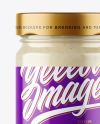 Clear Glass Jar with Horseradish Sauce Mockup