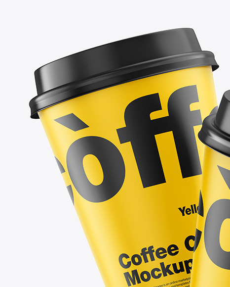 Matte Coffee Cups Mockup