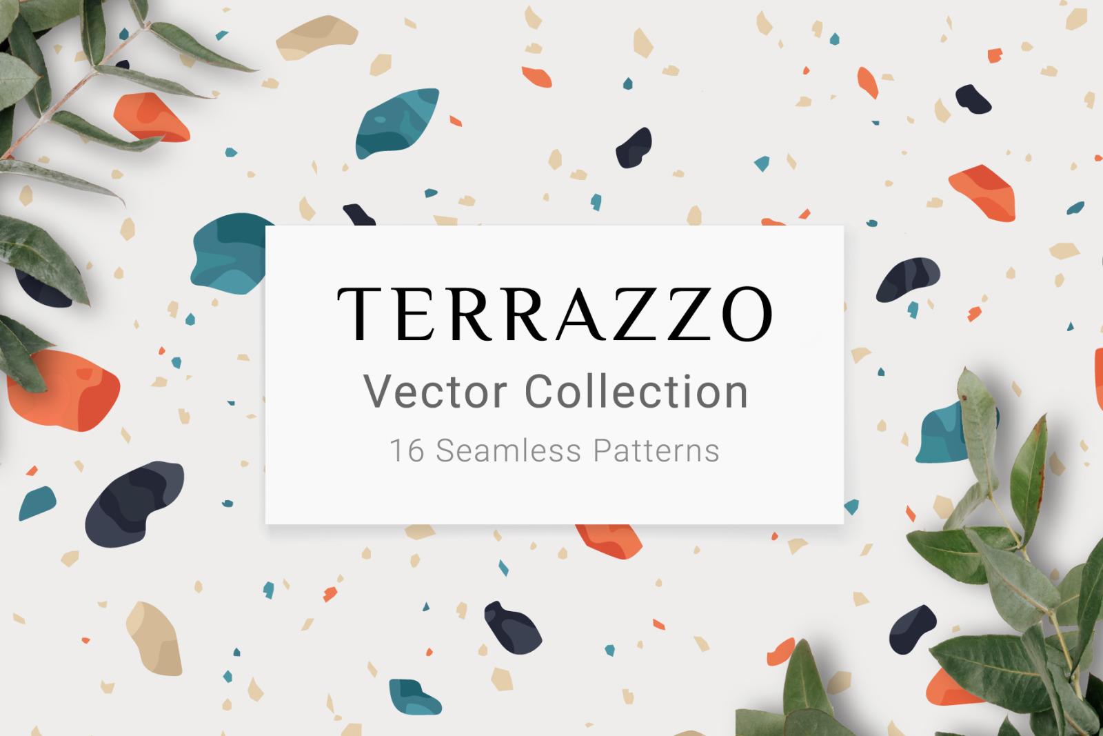 16 Terrazzo Seamless Patterns
