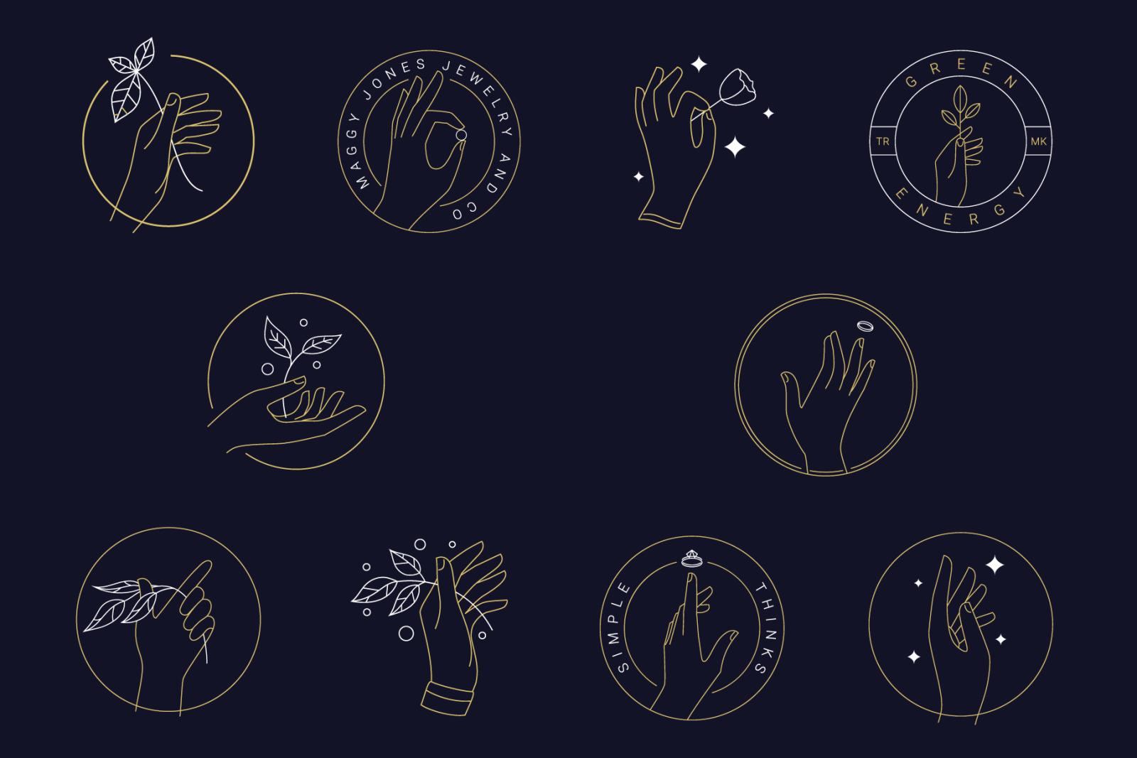 10 Hand's Logo Templates