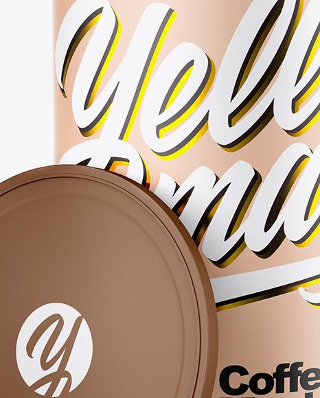 Matte Coffee Can Mockup