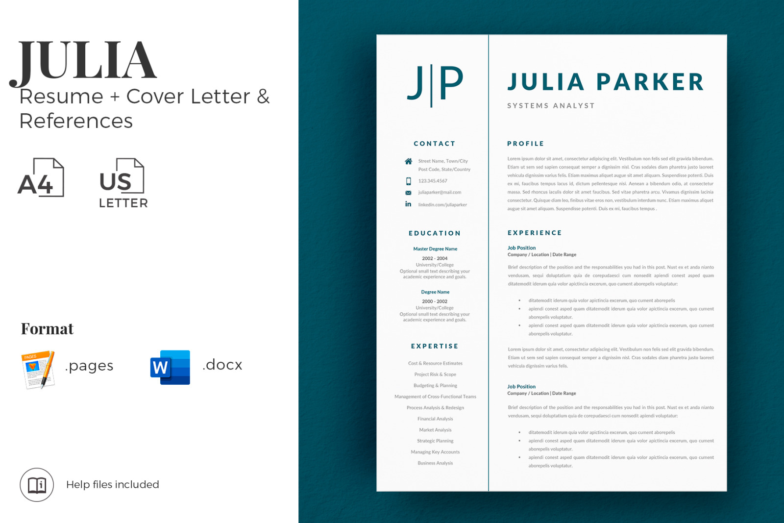 Cover Letter Template For Resume References And Professional Cv