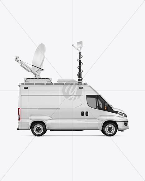 TV Van Mockup - Side View - Yellowimages Mockups