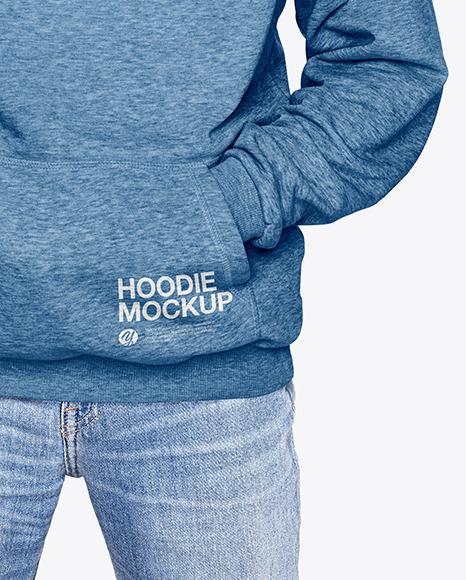 Man in a Hoodie Mockup