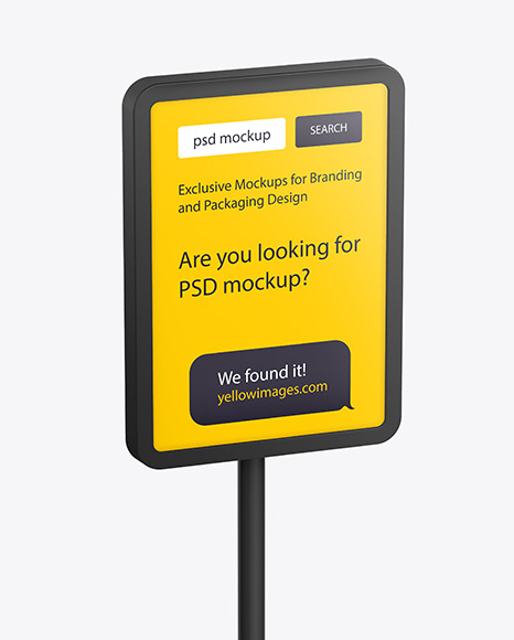 Download Plastic Stand Mockup In Outdoor Advertising Mockups On Yellow Images Object Mockups PSD Mockup Templates