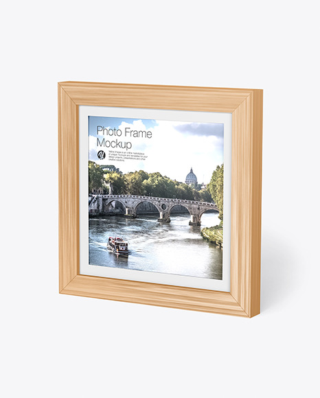Wooden Photo Frame Mockup