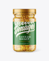 Clear Glass Jar with Wholegrain Mustard Sauce Mockup