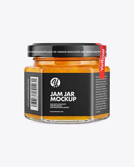 Jam Jar Mockup - Half Side View