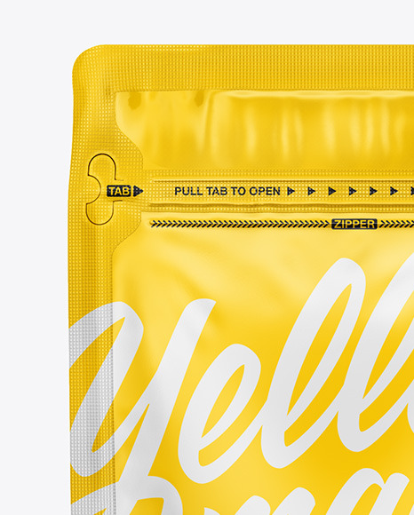 Download Glossy Coffee Bag With Zipper Mockup In Bag Sack Mockups On Yellow Images Object Mockups