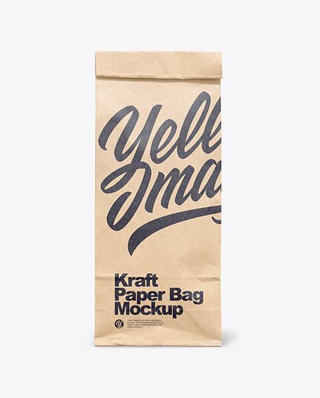 Kraft Paper Bag Mockup