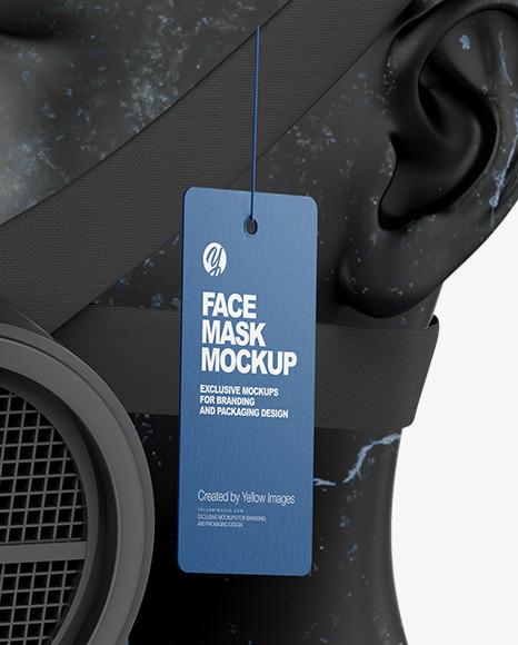 Gas Mask Mockup - Half Side View