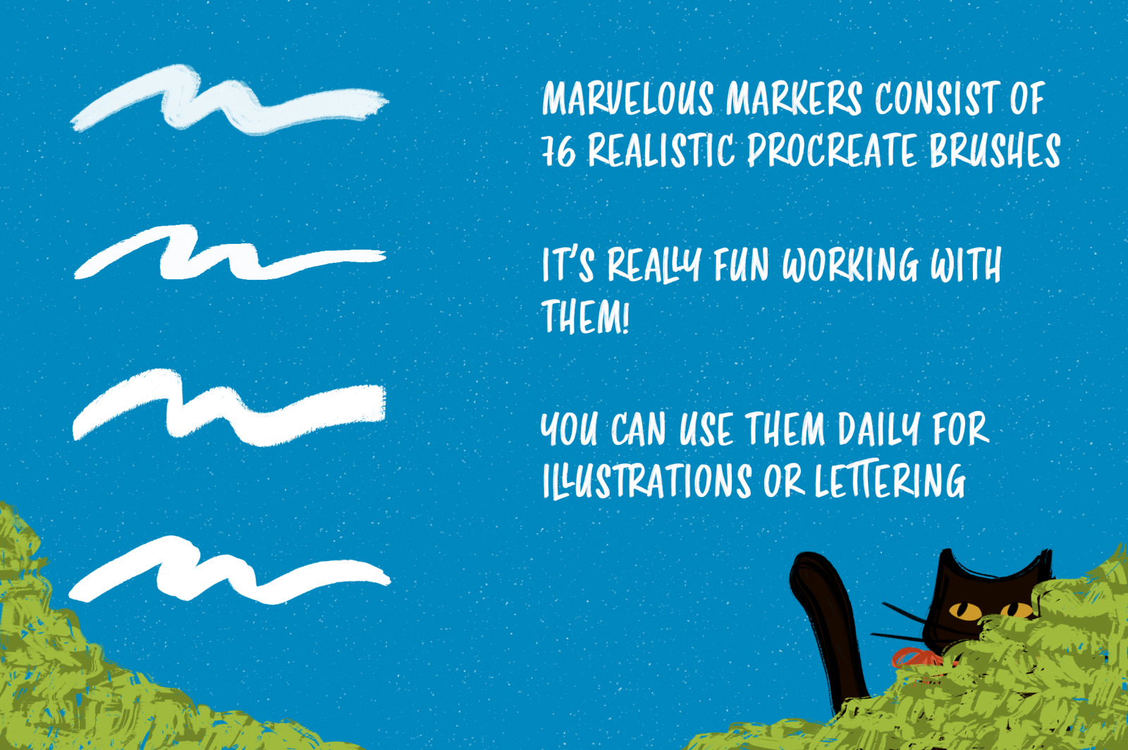 76 Marvelous Markers for Procreate