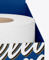 Toilet Tissue Rolls Pack Mockup - Half Side View