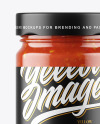 Clear Glass Jar with Sweet & Sour Sauce Mockup