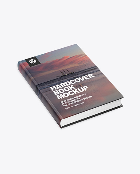 Download Hardcover Book Mockup In Stationery Mockups On Yellow Images Object Mockups PSD Mockup Templates