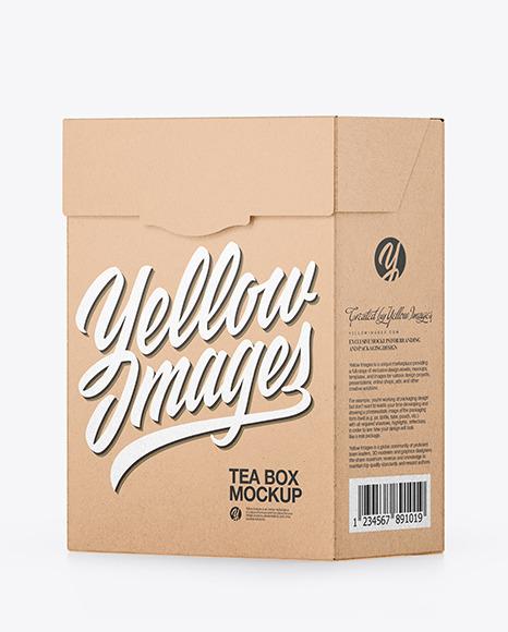 Download Glossy Kraft Paper Box Mockup Halfside View PSD - Free PSD Mockup Templates