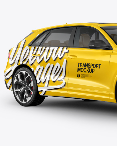 Coupe Crossover SUV Mockup - HalfSide View